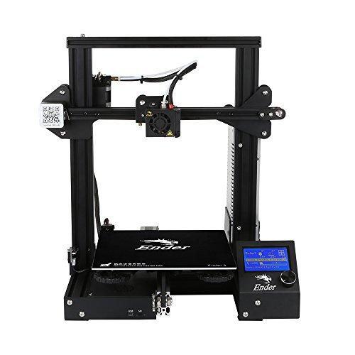 L.W.S Ender 3 Imprimante 3D Aluminium DIY avec Reprendre Imprimer Accessoires de l'imprimante 220x220x250mm