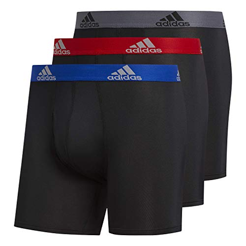 adidas Herren-Boxershorts, 3er-Pack, Schwarz/Collegiate Royal Black/Scarlet Black/Onix, Größe XXL