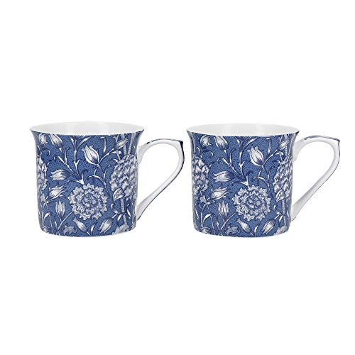 Creative Tops - Juego de 2 Tazas de Porcelana Fina de Tulipán Salvaje de V&A William Morris