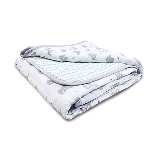 aden + anais Essentials Dream Blanket, Muslin Baby Blankets for Girls & Boys, Ideal Lightweight Newborn Nursery & Crib Blanket, Unisex Toddler & Infant Bedding, Shower & Registry Gift, Baby Star