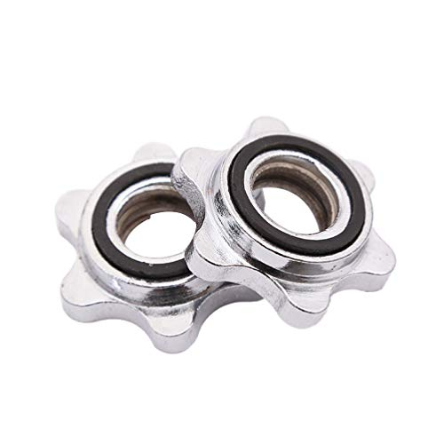 BESPORTBLE Barbell Clamps 2.5cm Dumbbell Clamps Hex Nuts Anti-slip Spin-Lock Collar Screw Gym Weight Dumbbell Lock Replacement Screw 4pcs Silver