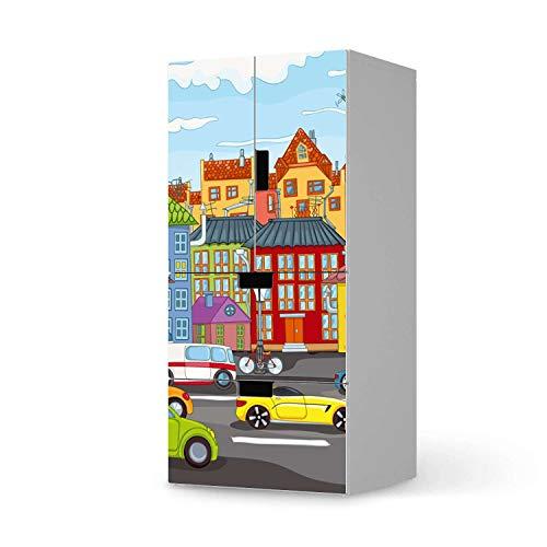 creatisto Möbel-Folie für Kinder - passend für IKEA Stuva kombiniert - 2 Schubladen und 2 kleine Türen I Tolle Möbeldekoration für Baby-Zimmer Deko I Design: City Life