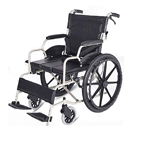 Wheelchair Ultraleichter Klappbarer Transit-Rollstuhl Aus Aluminium Mit Begleitbremsen, Klappbarer Rückenlehne, Mobilitätshilfen Und Begleitstuhl