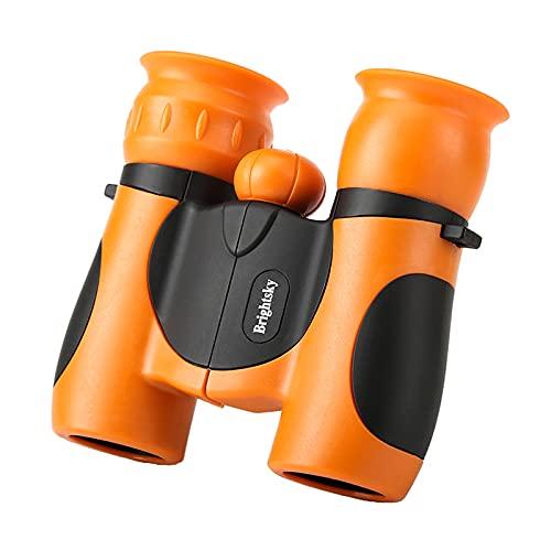 B Blesiya Binoculares a prueba de golpes Mini plegable 8x21 de alta resolución para niños educación detectar viajes aprendizaje educativo senderismo - Naranja
