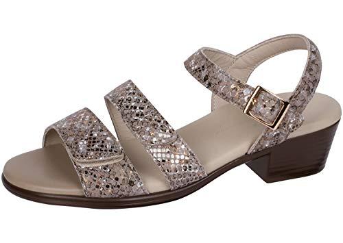 SAS Women's Heeled Sandals, Multi/Snake Gold, 10 Wide