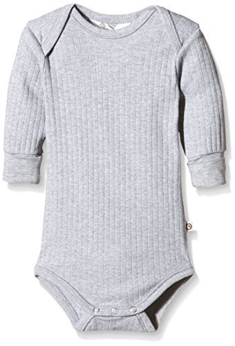 Musli by Green Cotton Cozy L/SL Body, Gris (Pale Greymarl), 3 Ans (Taille Fabricant:98) BB Garon