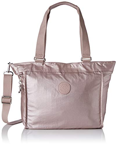 Kipling Damen New Shopper S Tote, Pink (Metallic Rose), 42x27x13 cm