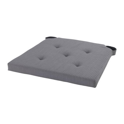 Ikea Justina - Cuscino per sedia, colore: grigio, 35/42 x 40 x 4 cm
