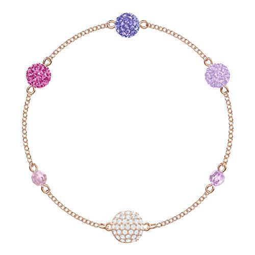 Swarovski Remix Collection Armband für Frauen, Pop Strand, lilafarbenes Kristall, rotgold glänzendes Finish