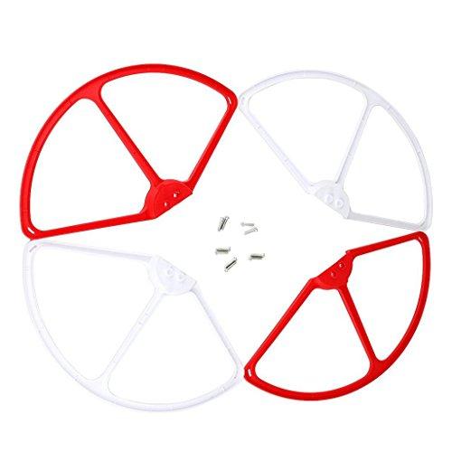 SM SunniMix 1 Set Telaio di Protezione Dell'elica Dell'aereo RC per L'accessorio Cheerson CX20 - Rosso Bianco