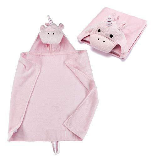Handdoek met capuchon voor baby's Handdoek met capuchon van 100% badstof - Handdoek voor baby's met capuchon - Oeko-Tex 100; Eenhoorn