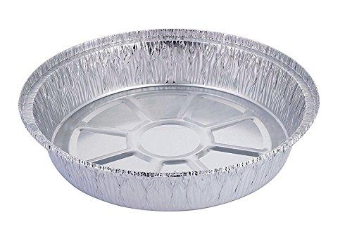 HBaker Plateau en feuille d'aluminium, jetable, pour congélateur et four, pour pizza et tarte, pour stocker et réchauffer, Aluminium, Lot de 20, 20,3 cm