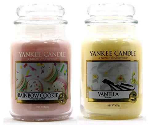 Yankee Candle Rainbow Cookie/Vanilla Classico Signature Barattolo Grande 623 g – Sicuro per Corrispondenza Box