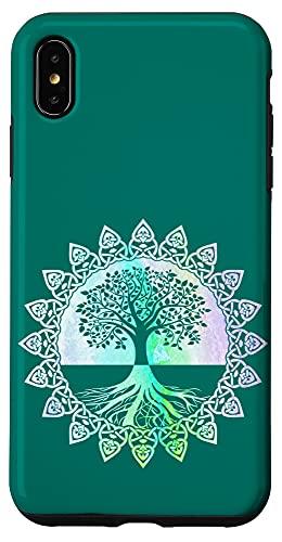 iPhone XS Max Celtic Knot Tree Of Life Phone Case Yoga Meditation Gift Case