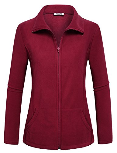 Hibelle Damen Outdoor Full Zip Thermo-Fleecejacke mit Taschen -  Rot -  50 DE/XXL