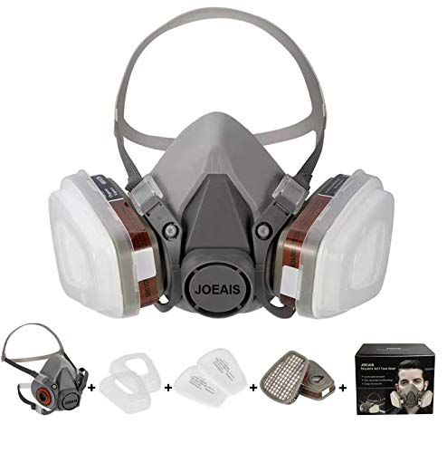 HAOX Large Half Facepiece Reusable Respirator 6200, Professional Organic Steam Respirator Widely Used in Paint Spray, Chemical, polishing,spraying and other work