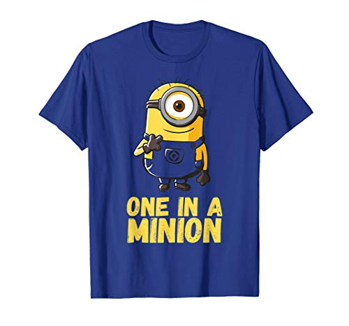 Despicable Me One In A Minion Yellow Minion Drawing T-Shirt