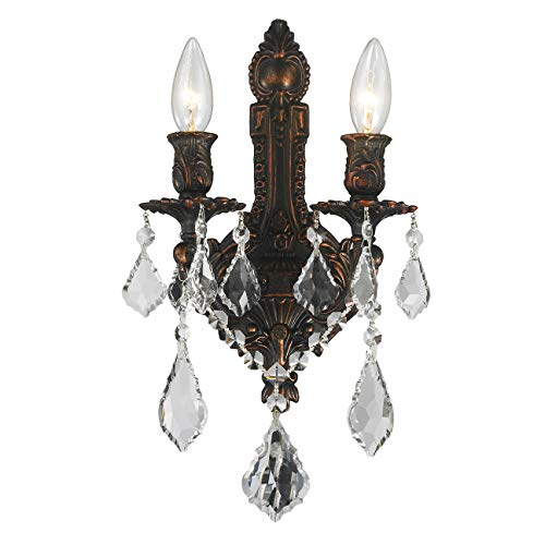 Worldwide Lighting W23314F12 Versailles Collection Wall Sconce, Medium, Dark Bronze