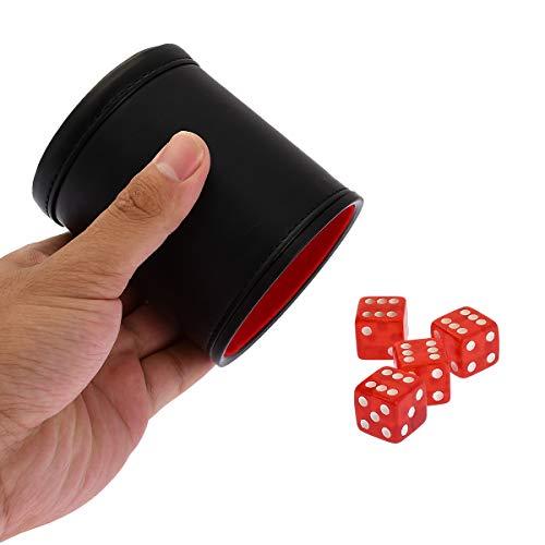 ダイスカップ ダイススタッキング サイコロカップ PU レザー 19mm サイコロ 4個 マジック