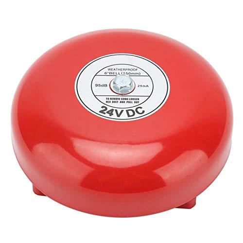 Campana de alarma eléctrica, campana de alarma de huelga interna, campana de seguridad de volumen de 100db campana de alarma contra incendios para la escuela(24V)