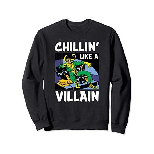Marvel Loki Chillin' Like a Villain Felpa