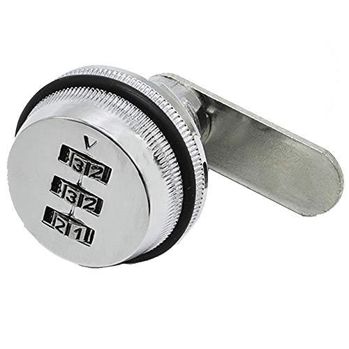 3-stellige 90 Grad Rotary Tongue Locks Kombination Cam Lock Locker Tür Schublade Digital Lock Zink-Legierung Passwort Coded Lock für Sicherheit von Box Cabinet