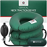 Cervical Neck Traction Device, Neck Traction Devices Pressure Relieve Cushion, Premium Velvet, Adjustable Pressure, Medi Grade Cervical Spine Alignment Chiropractic Pillow Neck, and Back Pain Relief