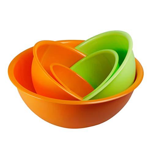 Set 5 Bols à Salade en Plastique. Terrines 100% Made in Italy. Parfait pour la Cuisine et Le Camping. Saladier.