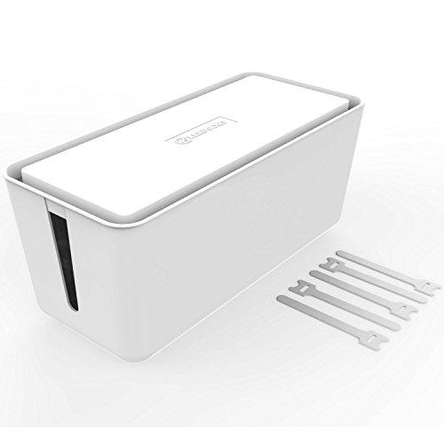 KEEPSORT® Kabel Organizer zum Verstauen von Steckdosenleisten, Ladeadaptern UVM. - Edle Kabelbox für Maximale Sicherheit im Haushalt - Kabel Verstecken