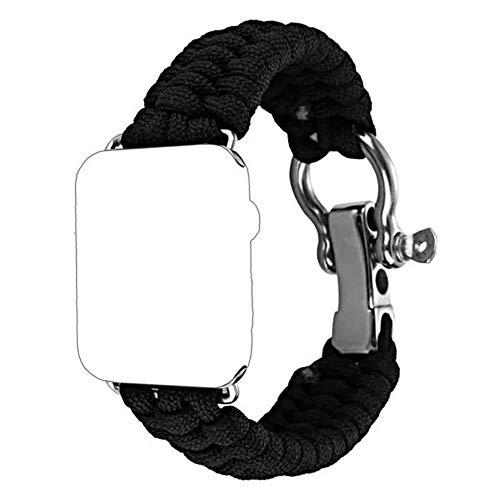 aizhinuo Pulsera de Repuesto Correa Solo Loop Trenzada Correa Trenzada de Nylon Soft Sport Reemplazo Elástica de Correa Nylon para Apple Watch Series 5 y 4 40mm / 3 y 2 y 1 38mm