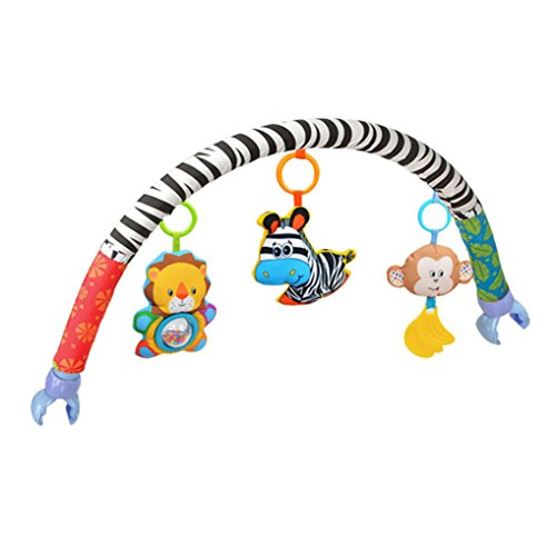 Amazemarket Säugling Baby Krippe Kinderwagen Kinderwagen Clip Tiere Zebra Bogen Spielzeug Abnehmbar Löwe Zebra Affe Quietscher/ Rassel/ Beißring