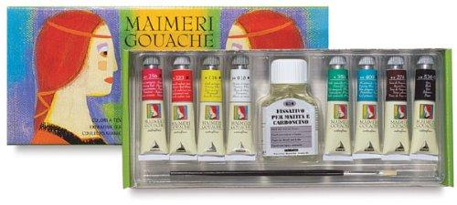 Maimeri Gouache Intro Caja Cartón 8X20Ml + Fijador + Pincel