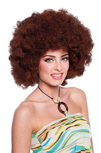 Folat 26841 Bruine Afro-pruik XL