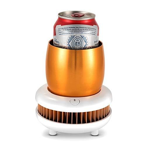 TXOZ-Q Taza de refrigeración Copa camping Coolers café nevera portátil Beverage Chiller Copa eléctrico Placa de la máquina de refrigeración rápida con la taza de aluminio for Ministerio del Interior a