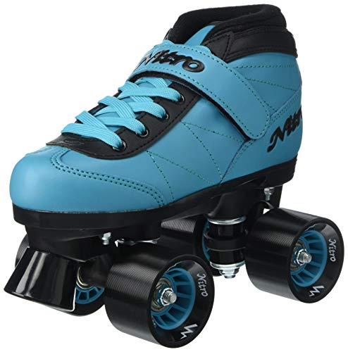 Epic Skates Nitro Turbo Indoor/Outdoor Quad Speed Roller Skates Blue/Black, Youth 1