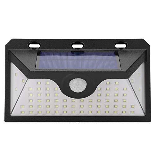 Lámpara de pared solar, sensor de luz de luz inalámbrico a prueba de agua + sensor de movimiento 120 grados Luces de pared solares con detección PIR al aire libre para exterior para puerta