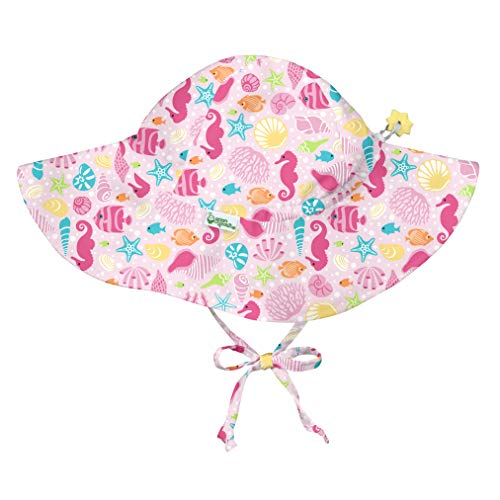 i play. Baby Girls Brim Sun Protection Hat-Pink Sealife-9/18mo, Sealife, 9-18mo