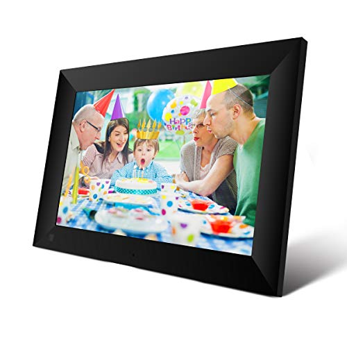 ACEMAX 10.1 inch 16GB Smart WiFi Cloud Digital Photo Frame App (Android & iOS) Instantly Share Photos Worldwide 1280 x 800 IPS High Resolution Touch Screen Portrait and Landscape Wall-Mountable (Black)