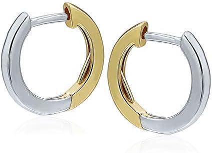 925 Sterling Silver Huggie Hoop Earrings 12mm 14mm Hypoallergenic Earrings Hoop Cartilage Earrings product image
