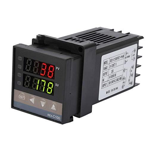 Termostato, kit de controlador de temperatura, resolución de 14 bits Práctico duradero para la industria química 0 ℃ ~ 1300 ℃ AC110V-240V Moldeo por inyección