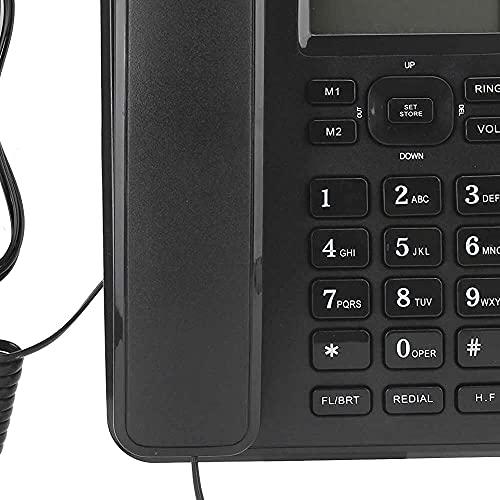 zhaita Teléfono con cable para personas mayores Big Bouton Home Landline Desk...