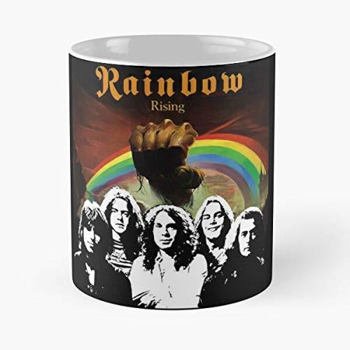 xuthonaz Blackmores Band Rising Richie Rainbow DIO James Ronnie Taza de café con Leche 11 oz