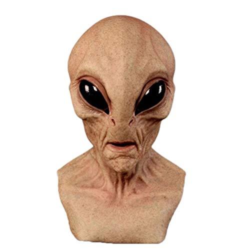 BSTQC Alien Head Face Cover, Halloween Alien Head Face Cover für Erwachsene und Kinder, realistische Alien Face Cover Latex Full Head Face Cover