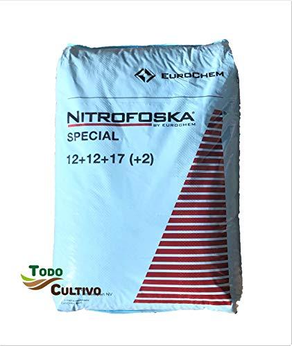 Nitrofoska Special. Abono granulado con microelementos para viña, parrales y Huerta 12-12-17 (2) MG. Saco de 25 kg. con magnesio, azufre y Boro, nutrientes Esenciales para la Vid.