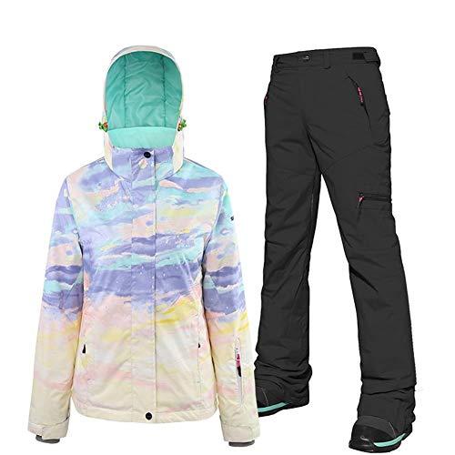 Mimioore Dubbelplank snowboard pak vrouwen vrouwelijke ski pak jas en broek pak waterdicht volwassenen ski's