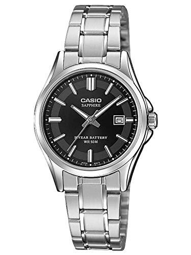 Casio Reloj Analógico para Mujer de Cuarzo con Correa en Acero Inoxidable LTS-100D-1AVEF