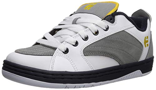 Etnies Men's CZAR Skate Shoe, White/Grey/Navy, 10 Medium US