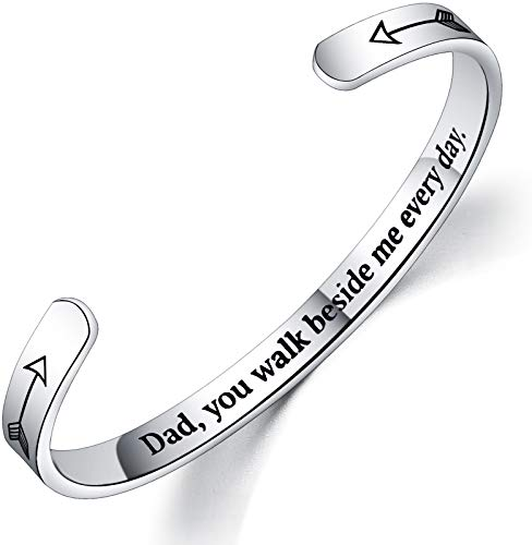 Haoze Remembrance Jewelry Memorial Bracelet Sympathy Gift for Loss Loved One Mom Dad Remembrance Cuff Bangle for Women Girls
