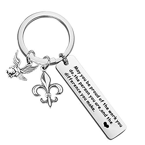 BAUNA Scout Leader Appreciation Gift Eagle Gift for Scouts Boy Scout Keychain You Make a Difference Court of Honor Gift for Scout Ceremony (Court of Honor Keychain)