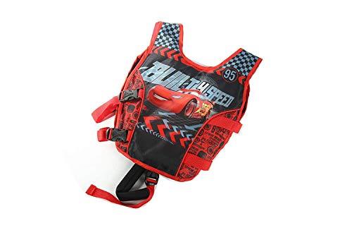 JKSPORTS Life Jacket Learn-to-Swim Buoyancy Aid Vest Children Float Vest Kids Swimming Training Jacket Learn to Swim for Boys Girls Begin to Swim Cartoon Swim Vest (Car, Large)